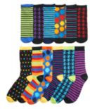 Men's Stripes & Dots 12 Days of Socks Gift Set