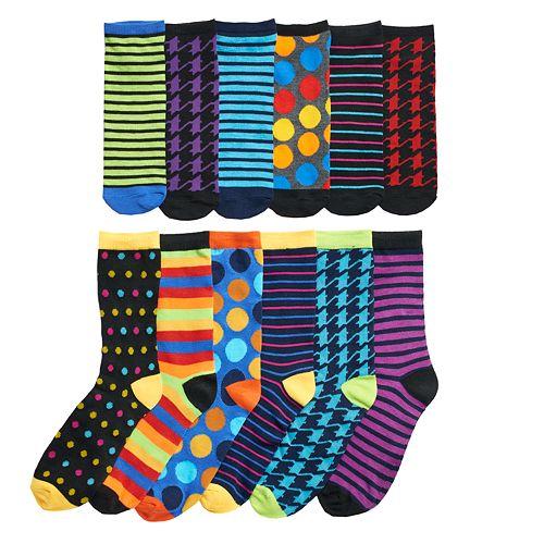 Men's Stripes & Dots 12 Days of Socks Gift Set