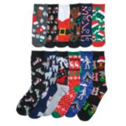 Men's Christmas Holiday 12 Days of Socks Gift Set