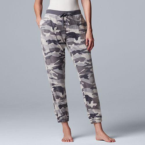 Women's Simply Vera Vera Wang Plush Jogger Pajama Pants