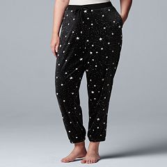 Plus Size Simply Vera Vera Wang Plush Jogger Pajama Pants