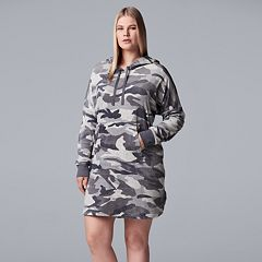 Plus Size Simply Vera Vera Wang Plush Hooded Sleepshirt