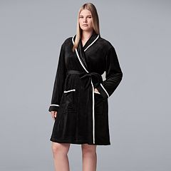 Plus Size Simply Vera Vera Wang Printed Plush Wrap Robe