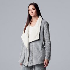 Women's Simply Vera Vera Wang Plush Wrap Cardigan