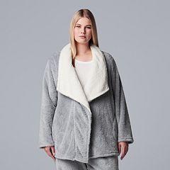 Plus Size Simply Vera Vera Wang Chenille Wrap Cardigan