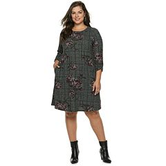 Plus Size Apt. 9® Print Swing Dress