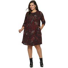 Plus Size Apt. 9® Print Swing Dress