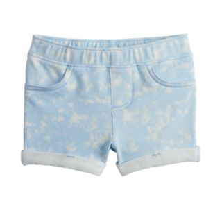 Baby Girl Jumping Beans® Cloud French Terry Shortie Shorts