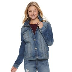 Juniors' Mudd® Oversized Jean Jacket