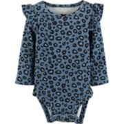 Baby Girl Carter's Print Ruffled Bodysuit