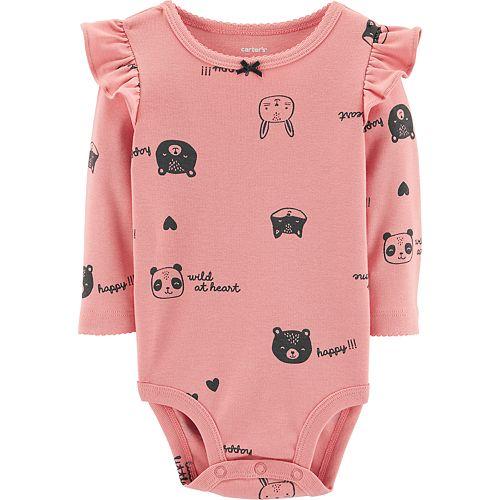 Baby Girl Carter's Print Ruffled Bodysuit