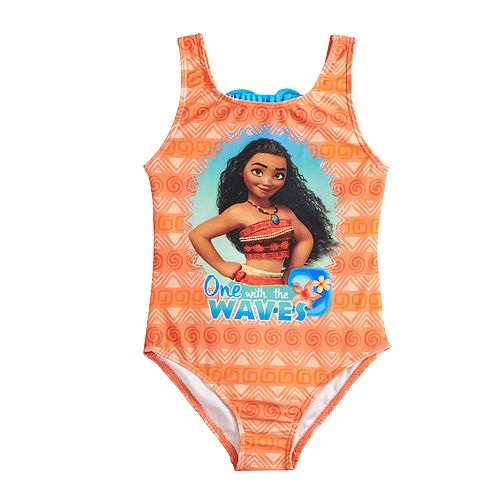 8882b591af Disney's Moana Girls 4-6x One-Piece Swimsuit