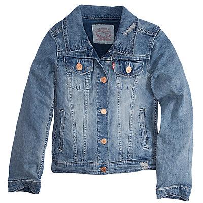 Girls 7-16 Levi's® Distressed Trucker Jacket