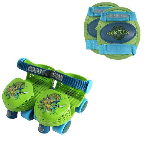Playwheels Teenage Mutant Ninja Turtles Roller Skates & Knee Pads Set