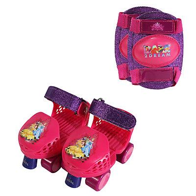 Disney Princess Glitter Roller Skates & Knee Pads Set by Playwheels