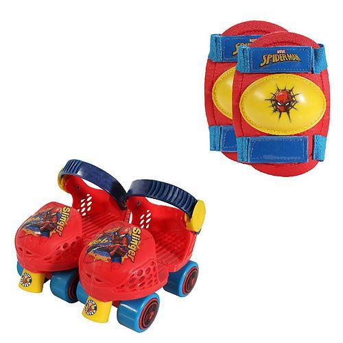 Playwheels Marvel Spider-Man Roller Skates & Knee Pads Set