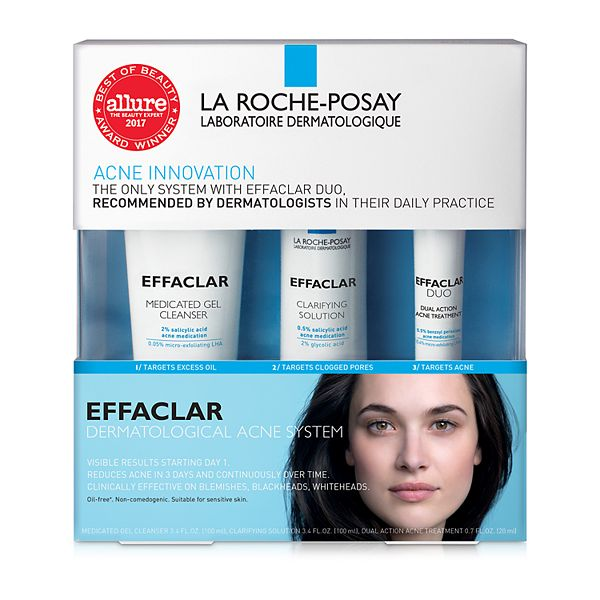 La Roche Posay Effaclar Dermatological Acne Treatment Set
