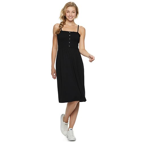 Juniors' SO® Smocked Midi Skater Dress