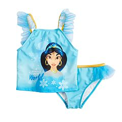 Disney's Princess Jasmine Girls 4-6x Tankini Top & Bottoms Swimsuit Set