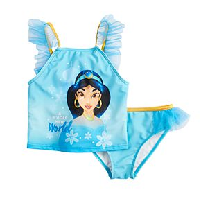Disney's Princess Jasmine Girls 4-6x Tankini Top & Bottoms Swimsuit Set