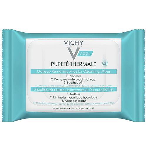VICHY Purete Thermale 3-in-1 Micellar Makeup Remover Wipes - 25 ct.