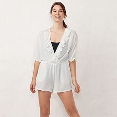 Women's LC Lauren Conrad Ruffle Romper Cover-Up
