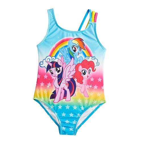 6898bd131d1c2 Girls 4-6x My Little Pony One-Piece Swimsuit