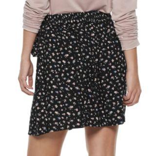 Juniors' SO® Challis Wrap Skirt