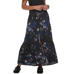 Juniors' Mudd® Button Front Midi Skirt