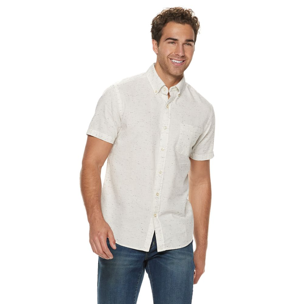 Men's SONOMA Goods for Life® Solid Textured Button-Down Shirt