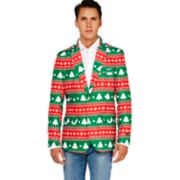 Men's OppoSuits Fairisle Christmas Tree Blazer