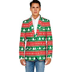 mens opposuits fairisle christmas tree blazer