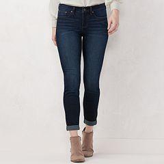 Petite LC Lauren Conrad Feel Good Cuffed Skinny Ankle Jeans