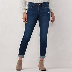 Petite LC Lauren Conrad Feel Good Cuffed Skinny Ankle Jeans