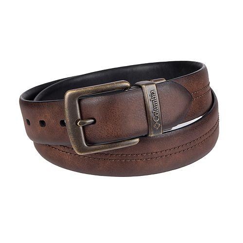 Men's Columbia Reversible Faux-Leather Belt