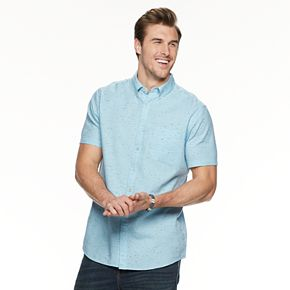 Big & Tall SONOMA Goods for Life? Short-Sleeve Button-Down Shirt
