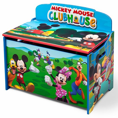 Outstanding Disneys Mickey Mouse Deluxe Toy Box By Delta Children Pdpeps Interior Chair Design Pdpepsorg