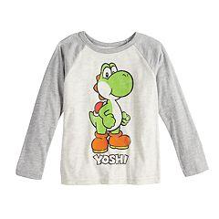 Boys 4-12 Jumping Beans® Super Mario Bros. Yoshi Raglan Graphic Tee