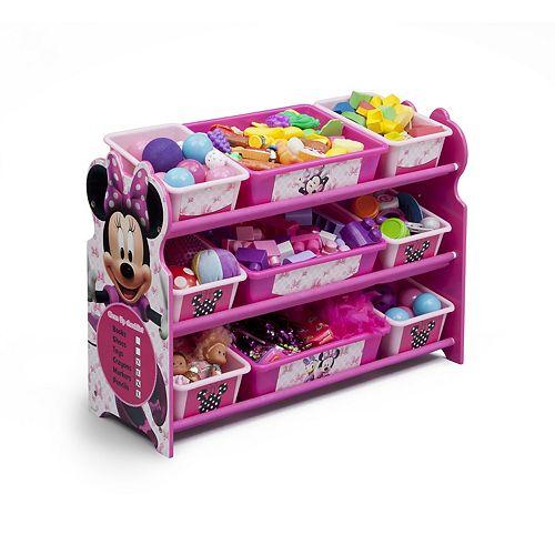 Disney's Minnie Mouse 9 Bin Plastic Toy Organizer by Delta Children