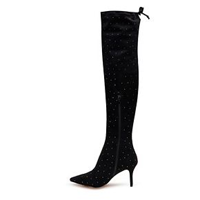 American Glamour by Badgley Mischka Edith Women's Over-The-Knee High Heel Boots