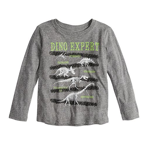 "Boys 4-8 Jumping Beans® ""Dino Expert"" Skeleton Dinosaurs Graphic Tee"
