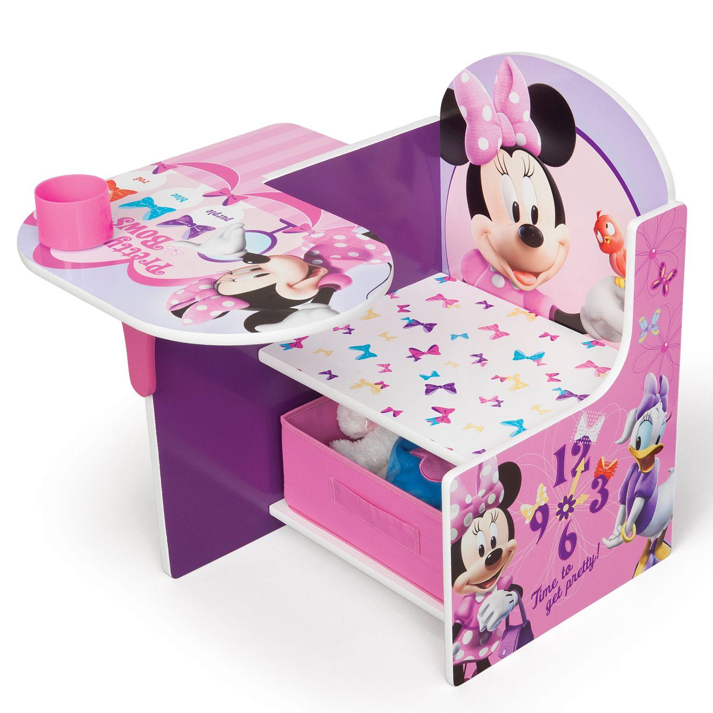Charmant Disneyu0027s Minnie Mouse Chair Desk With Storage Bin By Delta Children
