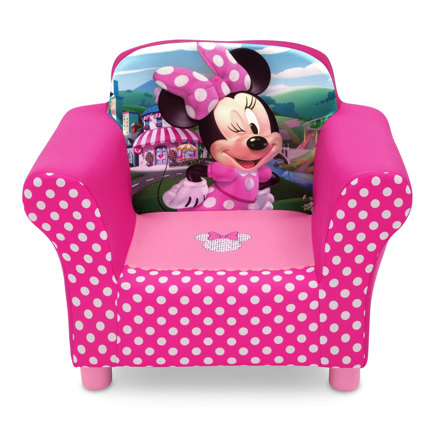 Disneyu0027s Minnie Mouse Upholstered Chair By Delta Children