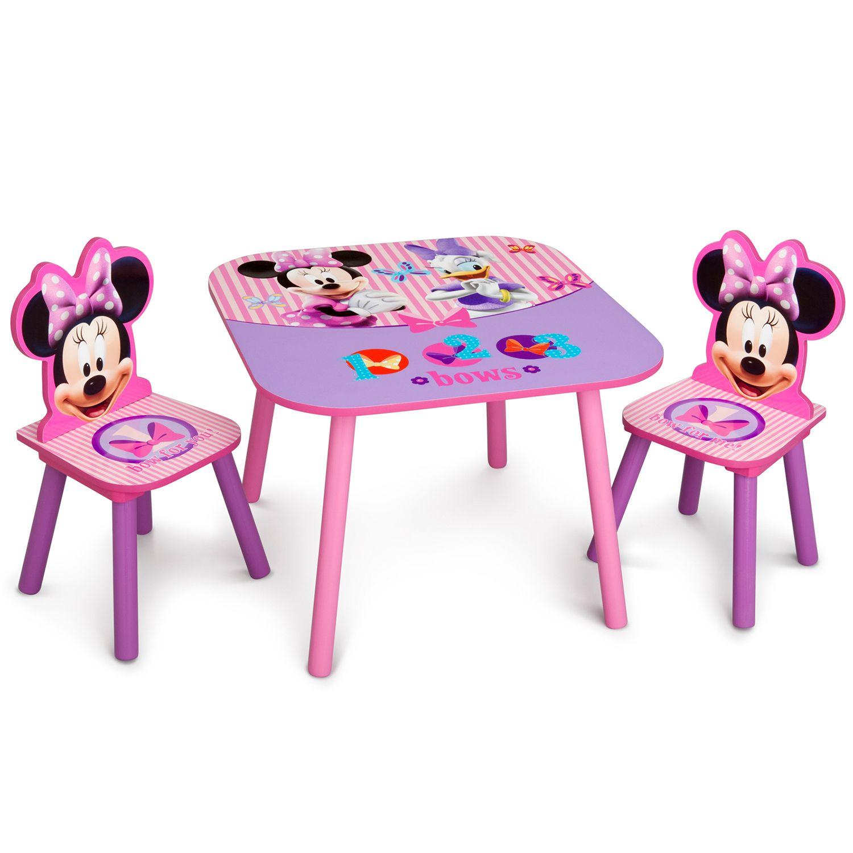 Disneyu0027s Minnie Mouse Table U0026 Chairs Set By Delta Children