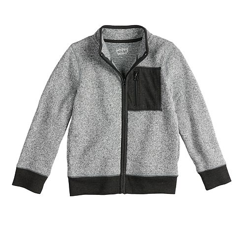 Boys 4-12 Jumping Beans® Zip Mock Neck Marled Jacket