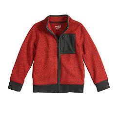 aece1e6c8638 Boys 4-12 Jumping Beans® Zip Mock Neck Marled Jacket