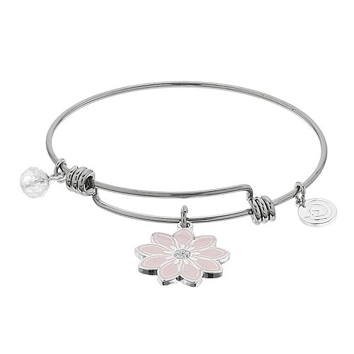 "love this life ""Be.You.Tiful"" Flower Bangle Bracelet"