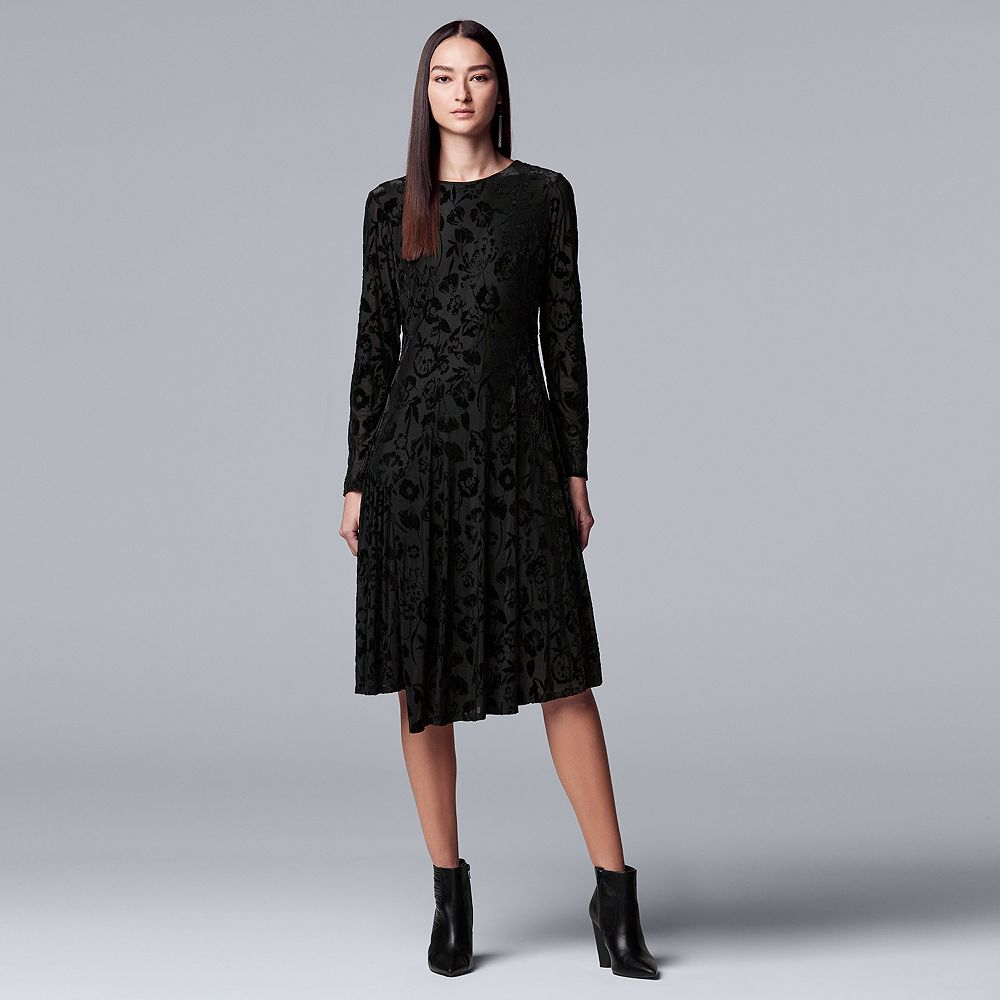 19a6691fceb ... Women s Simply Vera Vera Wang Flocked Velvet Dress. Kohl s Cardholders  ...