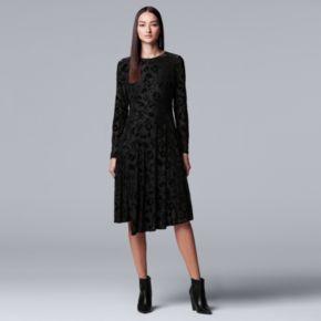 Women's Simply Vera Vera Wang Flocked Velvet Dress