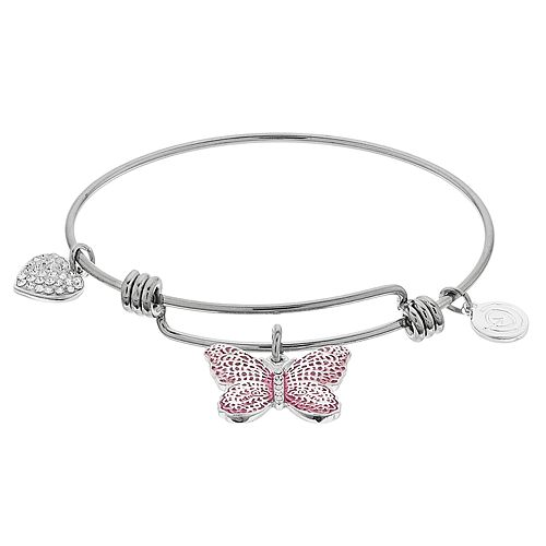 "love this life ""Be Brave"" Butterfly Bangle Bracelet"